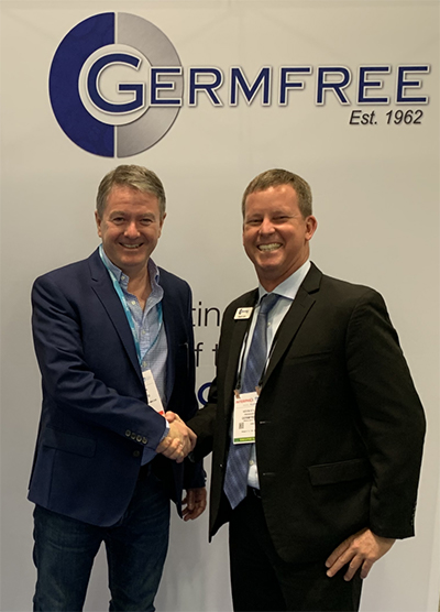 Ronan Quinn CEO of the Ardmac Group and Kevin Kyle, President of Germfree