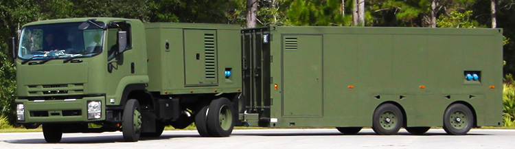 Germfree Army Trailer lab Exterior Driving