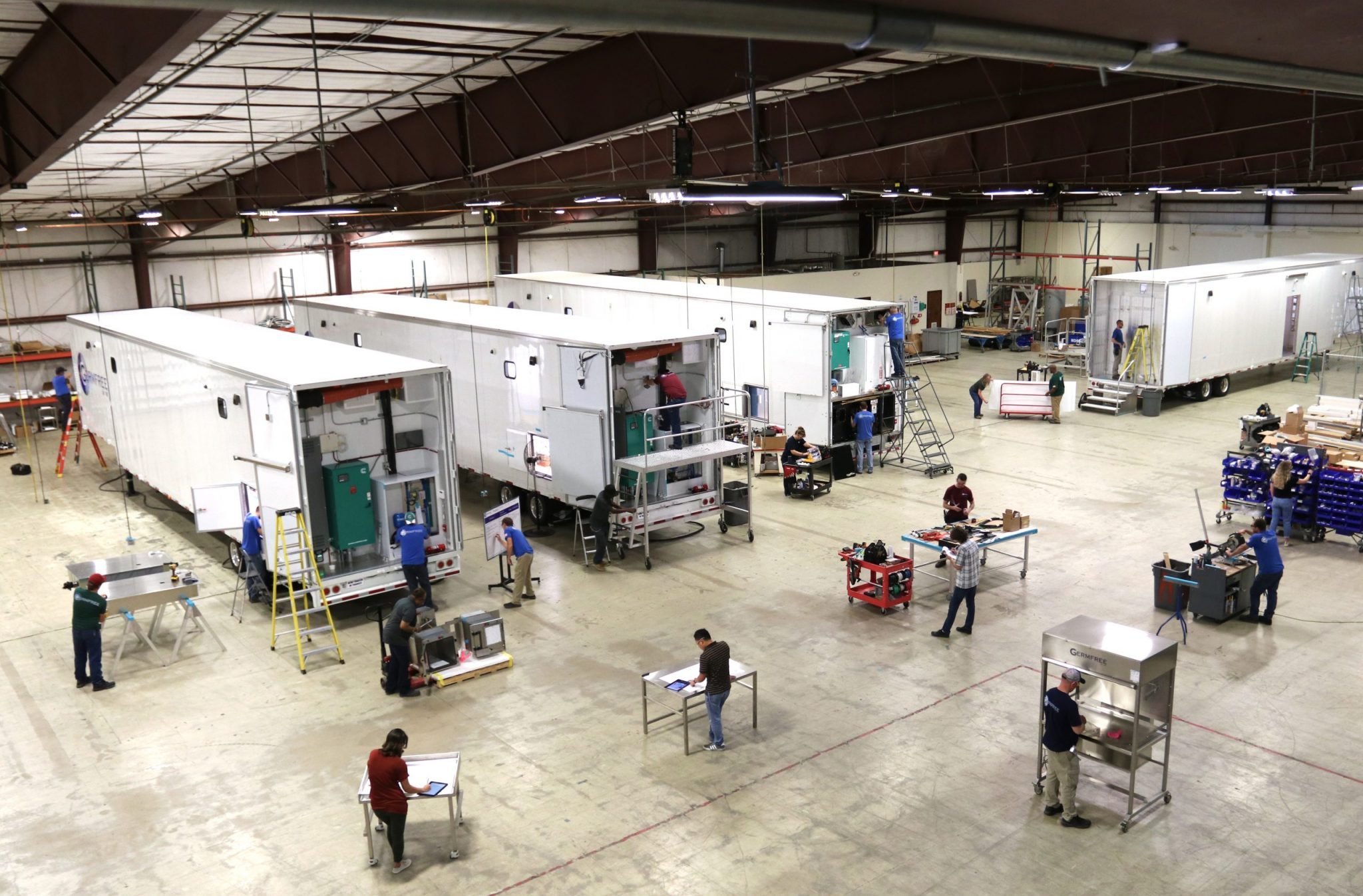 Mobile Trailers in Facility