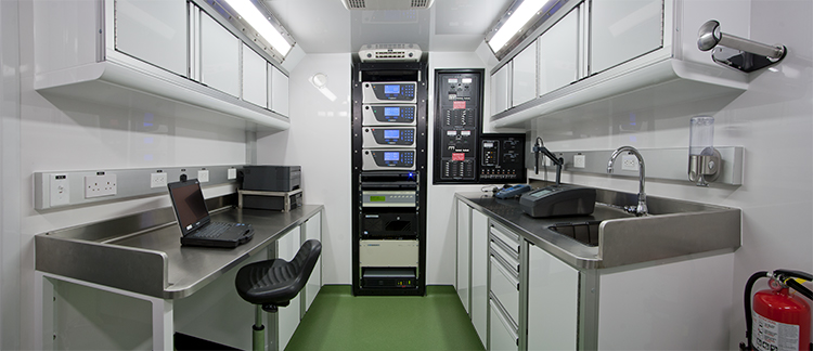 Mobile Petro Lab interior
